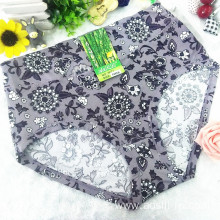 OEM wholesale China cheap dark purple sexy women printed flowers fancy underwear 5671